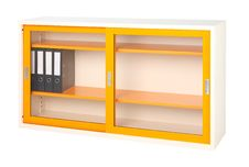 Free Orange Steel Cabinet Isolated Stock Image - 19653451