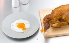 Free Chicken Toasted Isolated Royalty Free Stock Photography - 19653597