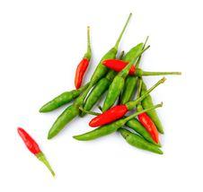 Thai Hot Chilli Isolated Stock Photos