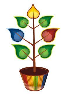 Free Colorful Tree Stock Photo - 19653700