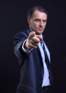 Business Man Pointing Royalty Free Stock Image