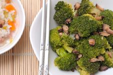 Free Fresh Broccoli And Mushroom Delicacy Stock Photos - 19654473