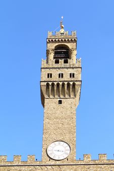 Free Old Clock Tower - Palazzo Vecchio Royalty Free Stock Image - 19654476