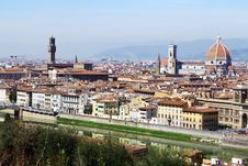 Beautiful Panoramic View Of Old City Royalty Free Stock Photo