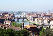 Beautiful Panoramic View Of Old City Royalty Free Stock Image