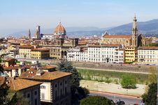 Beautiful Panoramic View Of Old City Stock Images