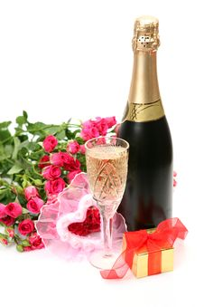 Free Wine And Roses Stock Photos - 19654813