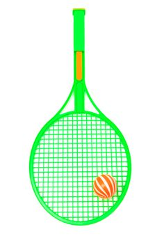 Free Racket And Ball Royalty Free Stock Photography - 19654837