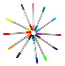 Free Multi-colored Felt-tip Pens Royalty Free Stock Images - 19655789