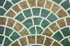 Free Pattern Of Curved Surface Tiles. Royalty Free Stock Photography - 19655837