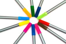 Free Multi-colored Felt-tip Pens Royalty Free Stock Photo - 19655865