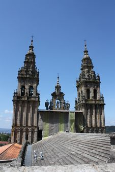 Free Cathedral Of Santiago De Compostela´s Roof Royalty Free Stock Photography - 19655977