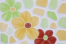 Pattern Offiower Surface Tiles. Royalty Free Stock Photo