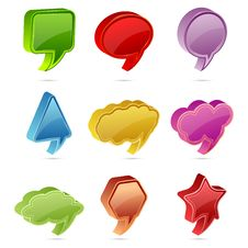 Colorful Speech Bubble Royalty Free Stock Photo