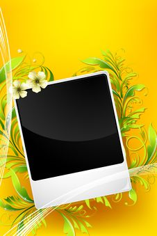 Free Floral Photo Frame Royalty Free Stock Photo - 19656635