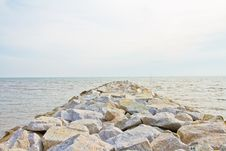 Free Huge Sea Stone Embankment Stock Image - 19656801