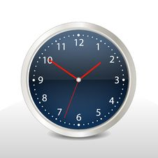 Blue Steel Clock Stock Image