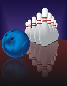 Free Bowling And Reflection Royalty Free Stock Images - 19658539
