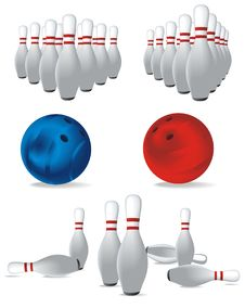 Free Set Of Bowling Stock Images - 19658544