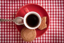Free Coffee And Ginger Biscuits, Detail. Stock Photos - 19658703