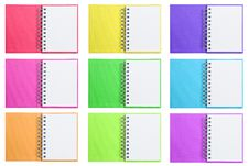 Free Isolated Opened Blank Note Books Stock Image - 19659251