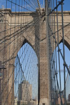 Free Brooklin Bridge, New York Royalty Free Stock Photo - 19659375