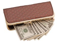 Free Dollars In Wallet Royalty Free Stock Photo - 19659685