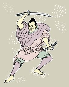Free Samurai Warrior With Katana Sword Stock Photos - 19659873