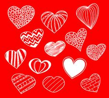 Free Hearts Collection Royalty Free Stock Image - 19659956