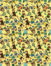 Free Cartoon Tennis Players Seamless Pattern Royalty Free Stock Photos - 19661248