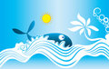 Free Tropical Holiday View With Swimming Fish Stock Photos - 19663353