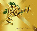 Free Gold Bow And Ribbon Royalty Free Stock Photography - 19664007