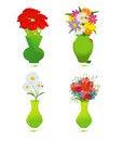 Free Set Of  Flower Vase Stock Image - 19664641