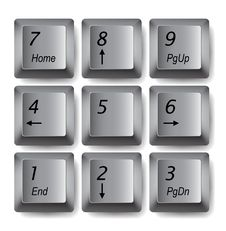 Free Keypad Buttons Royalty Free Stock Photos - 19660038
