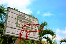 Free Basket Ball Hoop Royalty Free Stock Photography - 19660157