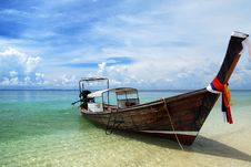 Free Boat On Thailand Sea Royalty Free Stock Images - 19660349