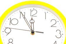 Free Yellow Wall Clock Stock Photo - 19661100