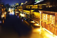 Free Ancient Chinese Village At Night Royalty Free Stock Photos - 19661808