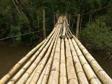Free Hanging Bamboo Bridge Royalty Free Stock Photos - 19662058