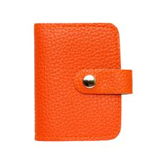 Free Leather Orange Card Holder Bag Royalty Free Stock Photography - 19662147