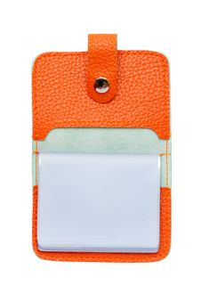The Opened Orange Card Holder Stock Images