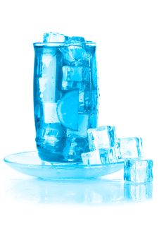 Glass Of Iced Mineral Water Stock Images