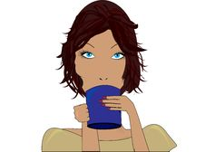 Free Girl With A Cup Royalty Free Stock Images - 19662739