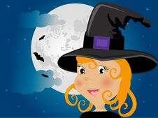 Free Cute Girl In Halloween Costume Royalty Free Stock Photo - 19662745