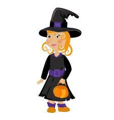 Free Girl In Halloween Costume Royalty Free Stock Photography - 19662747