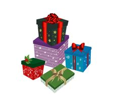 Free Christmas Gift Boxes Royalty Free Stock Photography - 19662927