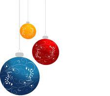 Free Ornamented Christmas Balls Stock Photography - 19662932