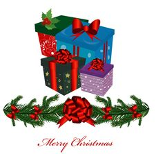 Free Christmas Gift Boxes Stock Image - 19662941