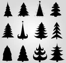 Free Set Of Christmas Trees Stock Photography - 19662962