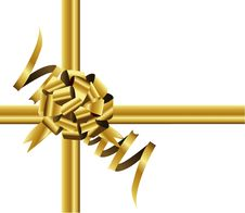 Free Gold Bow And Ribbon Stock Photos - 19662963
